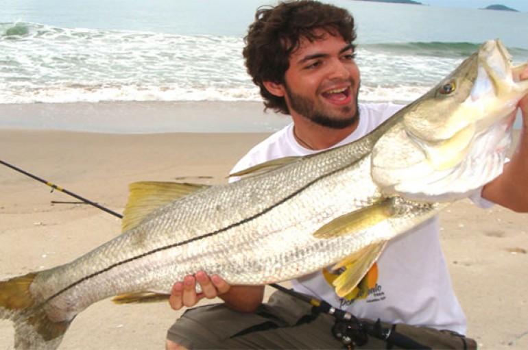 Pesca de Robalos na praia