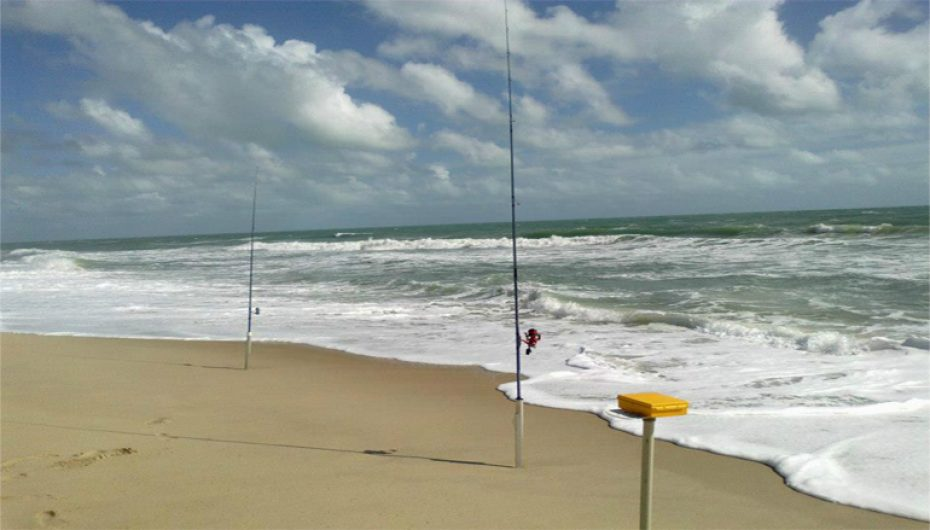 Pesca de praia no inverno