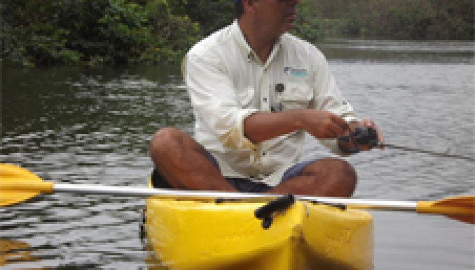 Pesca Robalo em caiaque