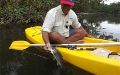 Pescaria de Robalo com caiaque
