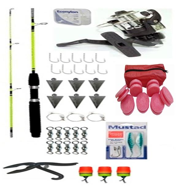 kit-41-itens Kit para pesca de Corvina