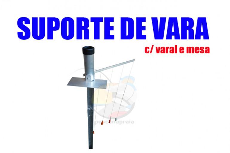 Suporte Vara Praia c/ varal e mesa