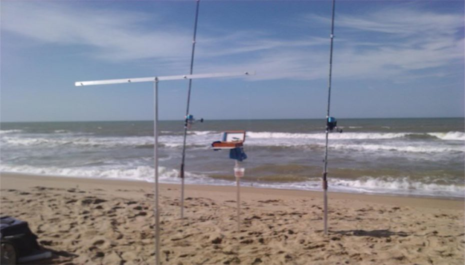 Varal para pesca de praia