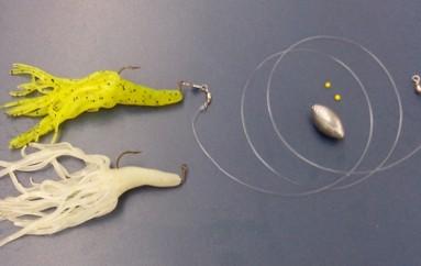 Chicote pesca com lula silicone