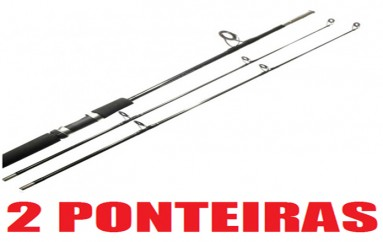 Vara Molinete Fibra Forte 1,65 m 20 lbs 2 ponteiras
