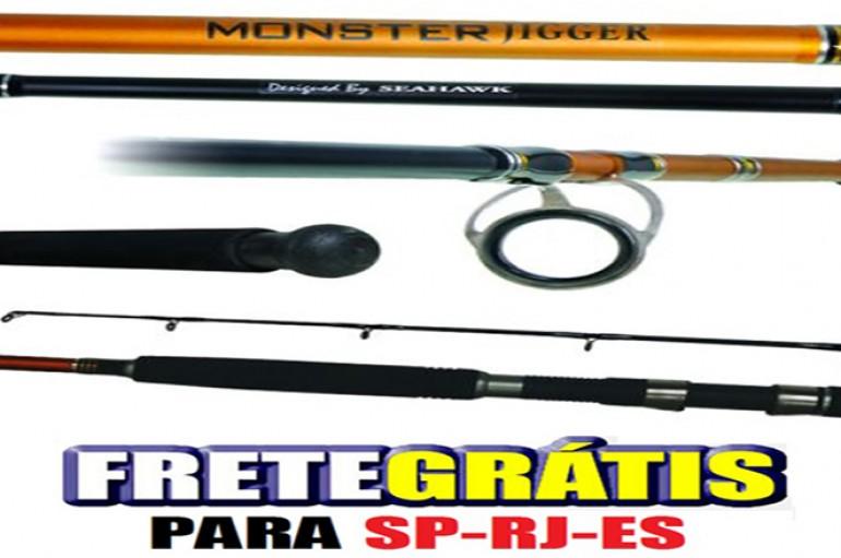 Vara Molinete Seahawk Monster Jigger 1,68 m 40 lbs