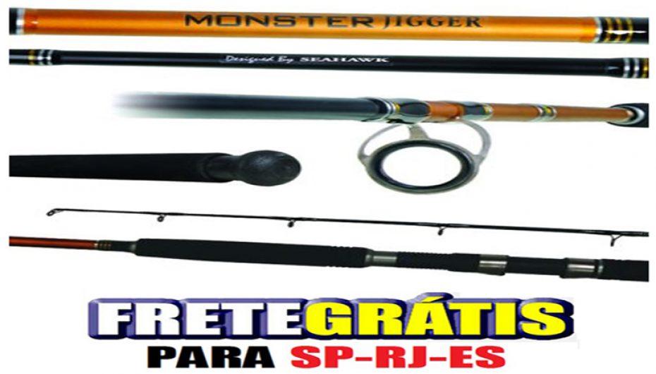 Vara Molinete Seahawk Monster Jigger 1,80 m 40 lbs