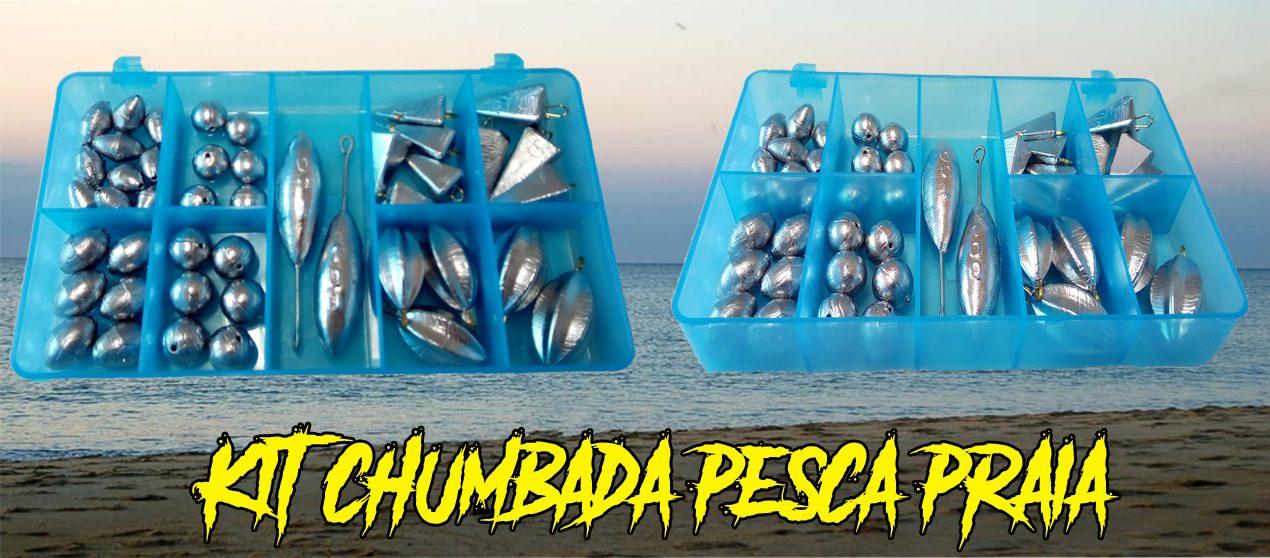Kit Chumbada Pesca Praia