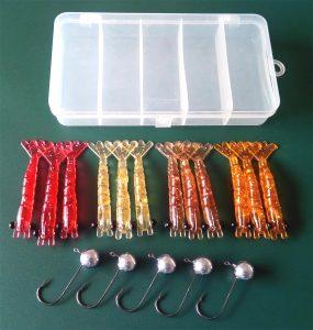 estojo-camarão-8-cm-12-pc-5-jig-285x300 Kit Camarão 8 cm 18 peças